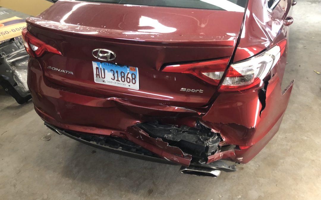 Red Hyundai – Rear End